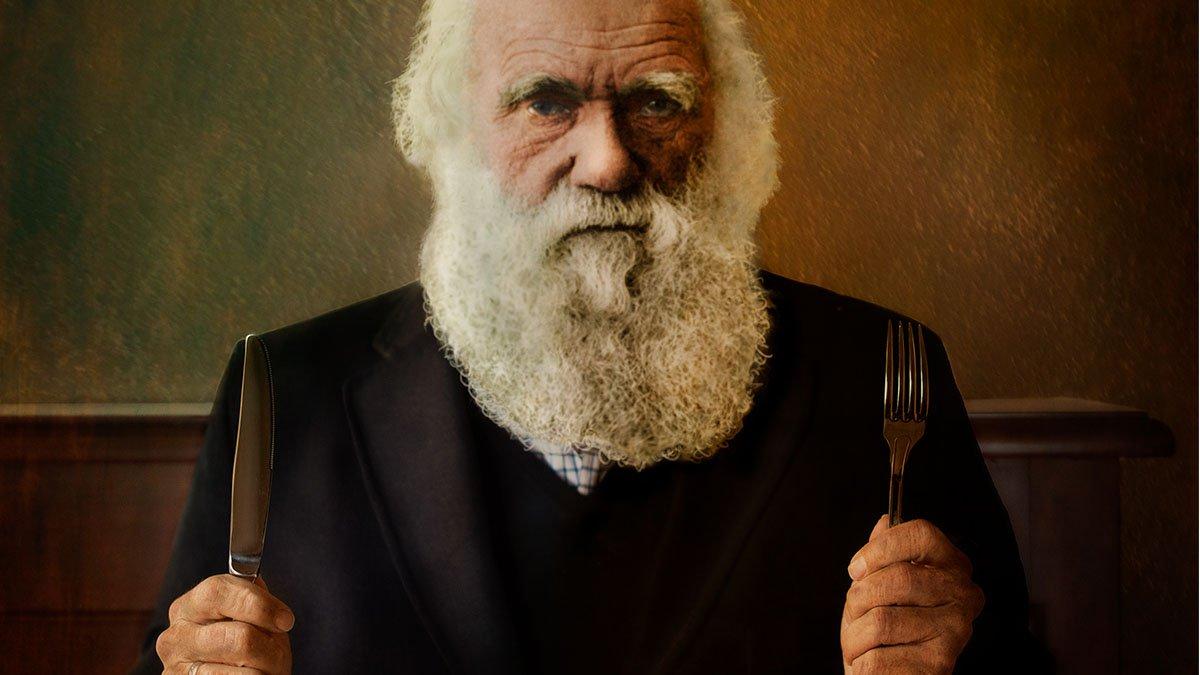 '.DARWIN SE SIENTA A LA MESA.'